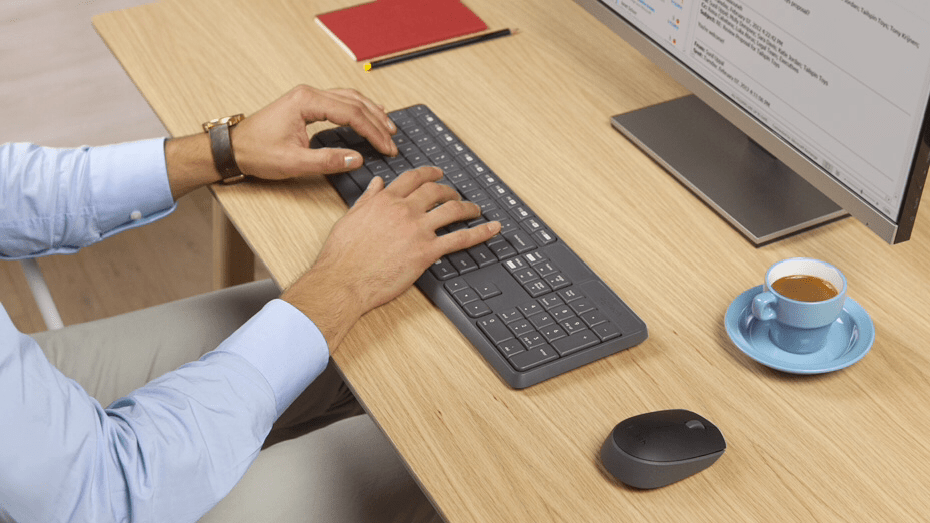 Teclado e mouse Logitech mk235